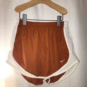 Burnt orange Nike shorts